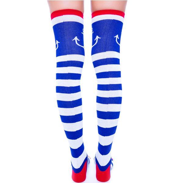 Sourpuss Clothing Galley Ho Socks