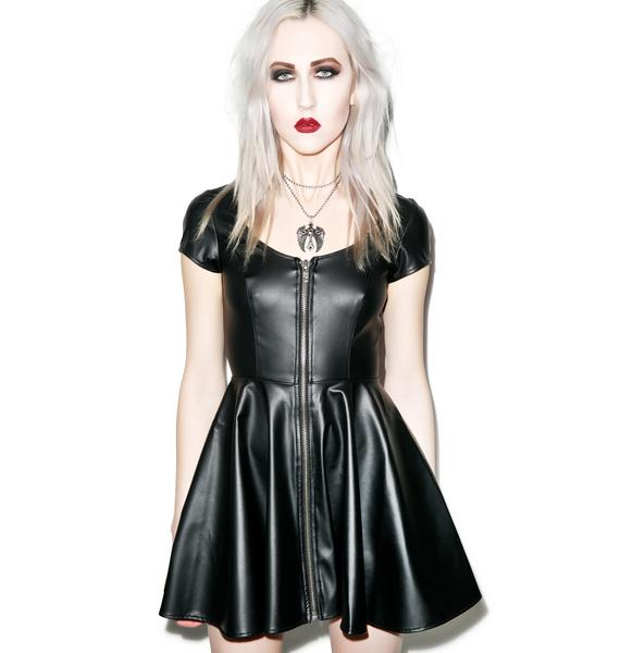 Lip Service Sumthin' Sexy Classic Vinyl Dress