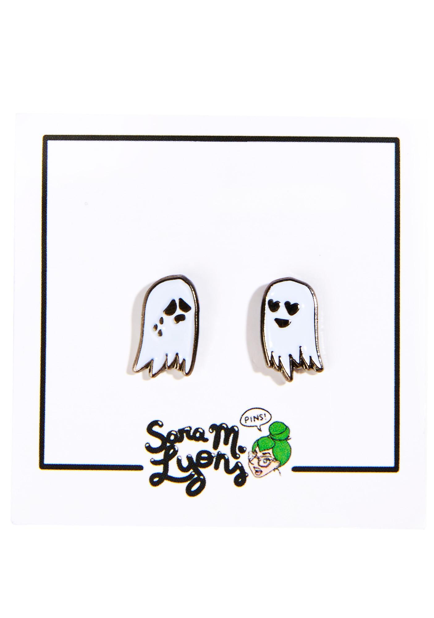 Sara M Lyons Tiny Ghosts Pin Set