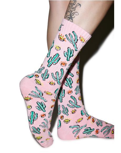 Anne Freeman Saguaros Have Eyes Crew Sock