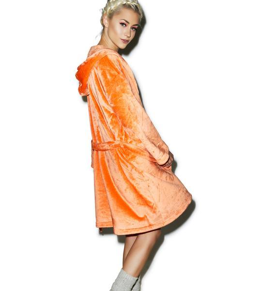 Mink Pink Tangerine Daydream Robe