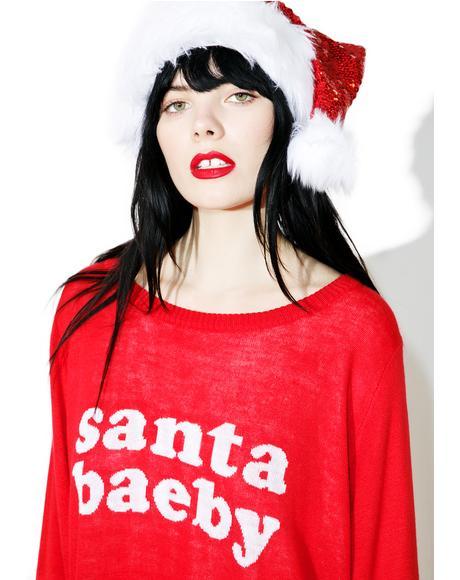 Santa Baeby Sweater