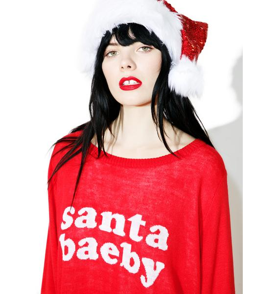 Tipsy Elves Santa Baeby Sweater