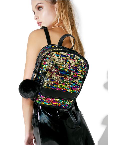 Lulu Sequin Backpack