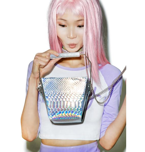 Skinnydip Holographic Take Out Bag