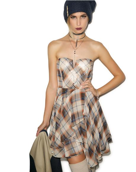 Plaid to Meet Ya Bodice Dress