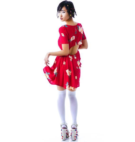 Mink Pink Flower Effect Dress