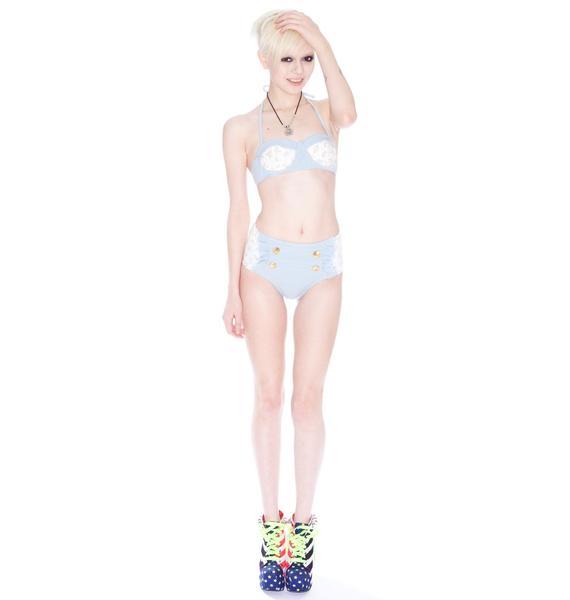 Wildfox Couture Sinatra Daisy Denim Bikini