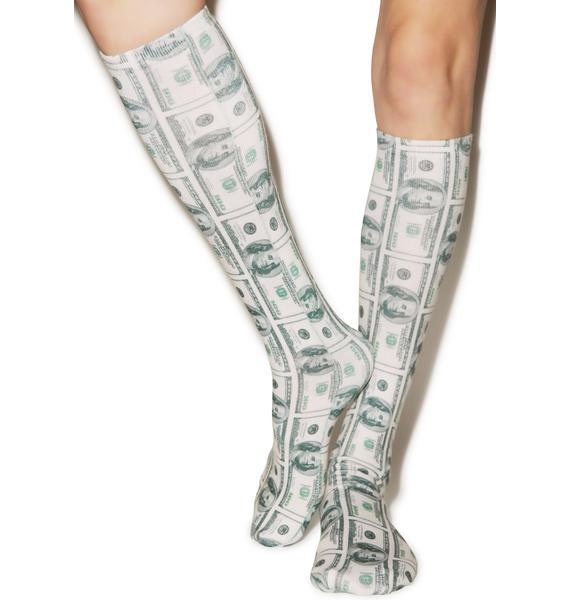 All About The Benjamins Knee High Socks