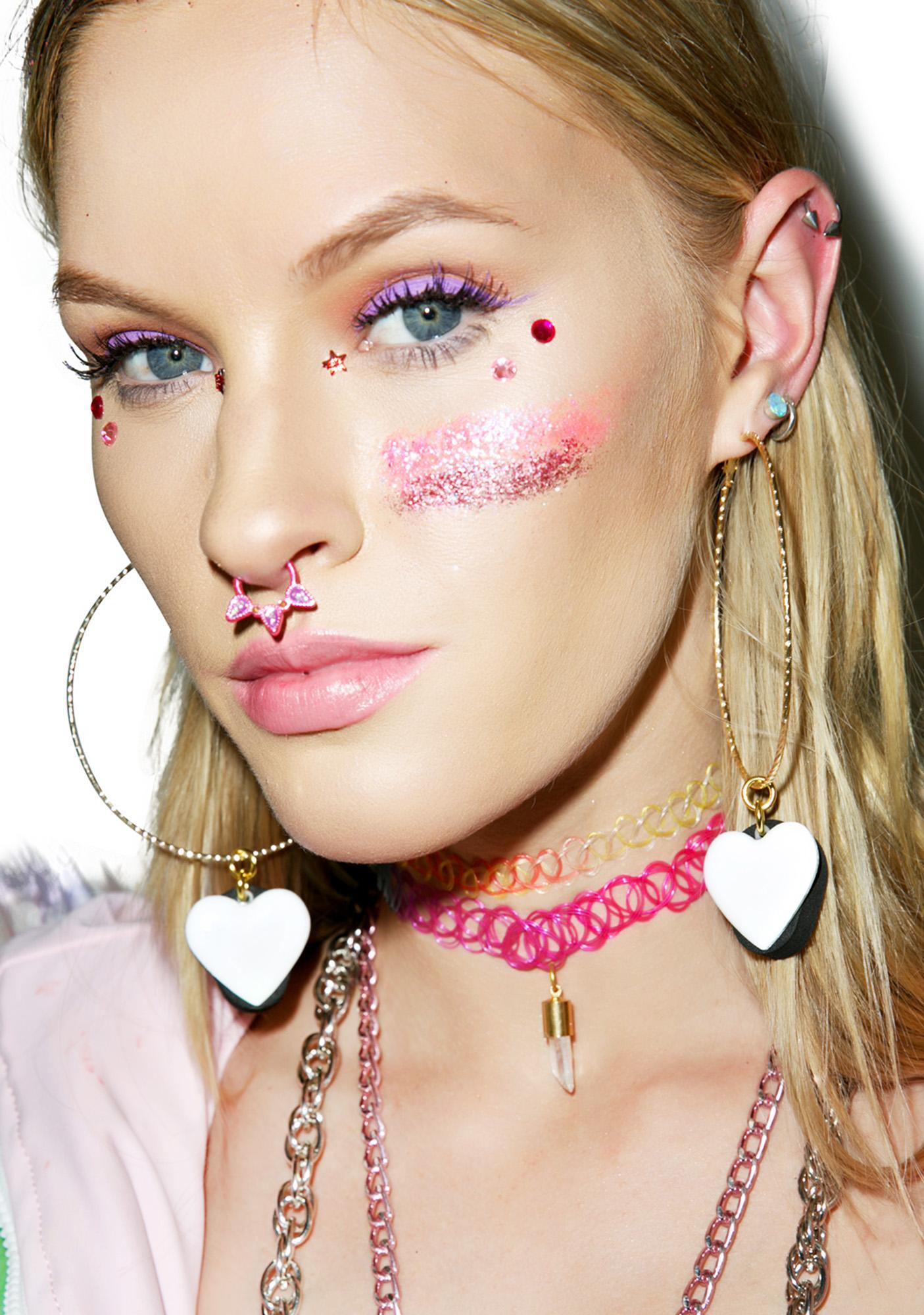 Trixy Starr L.E.D Love Hoop Earrings