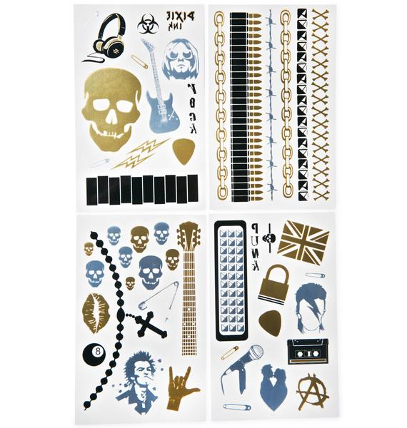 Vicious Temp Tattoo Set