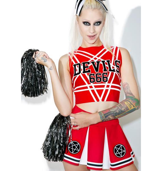 Dolls Kill Satan's Cheerleader Set