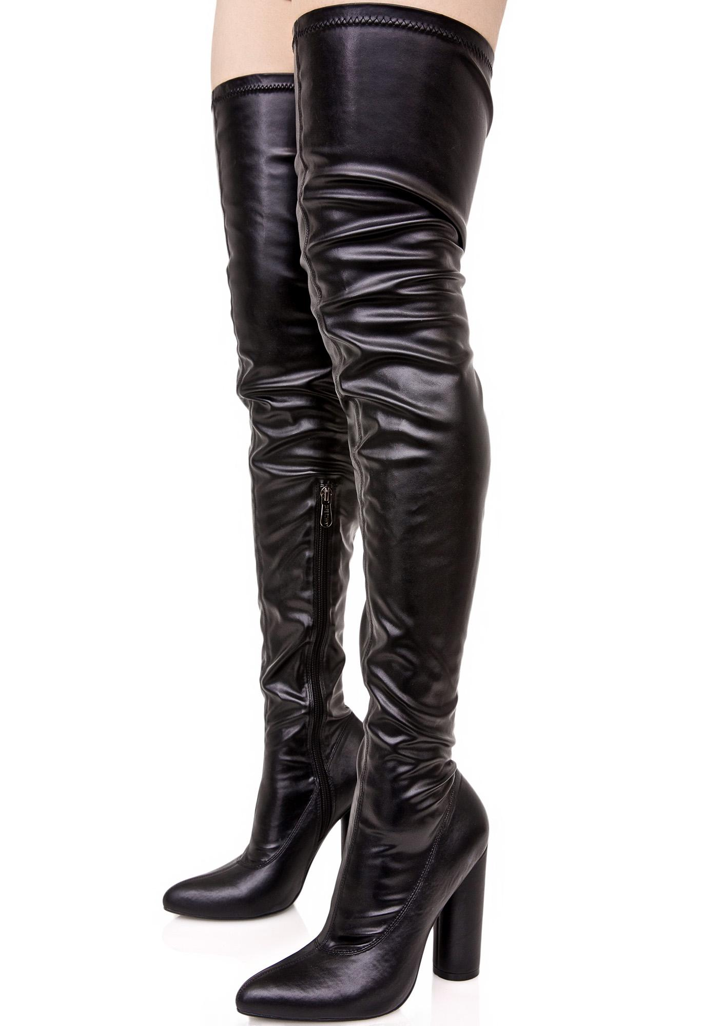 Fast Lane Thigh High Boot