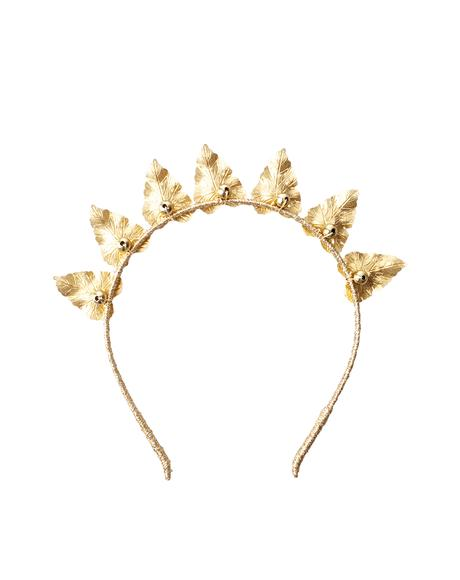 Olive Brass Leaf Crown