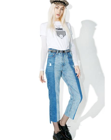 Off Chance Paneled Jeans