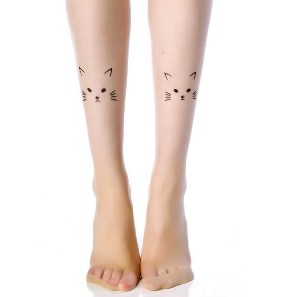 Hey Lil Kitty Kat Tattoo Tights