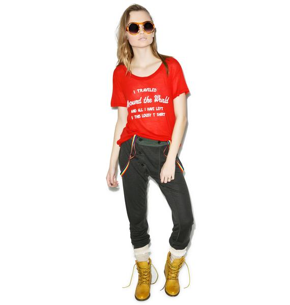 Wildfox Couture Around The World Easy Tee