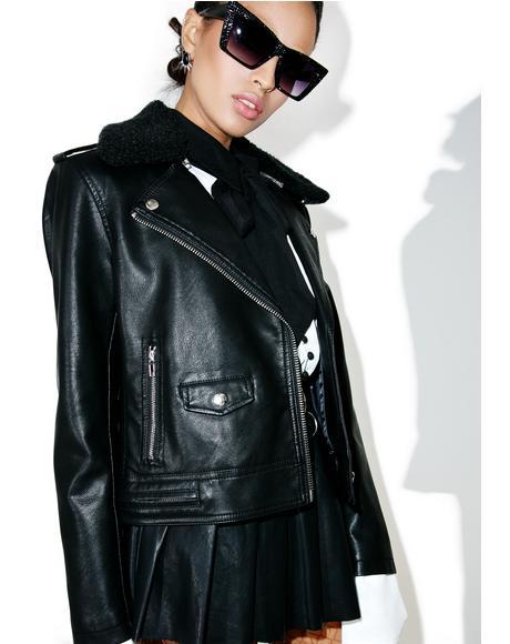 Billie Vegan Leather Jacket