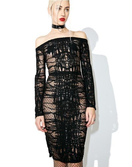 Bleeding Ink Sheer Bodycon Dress