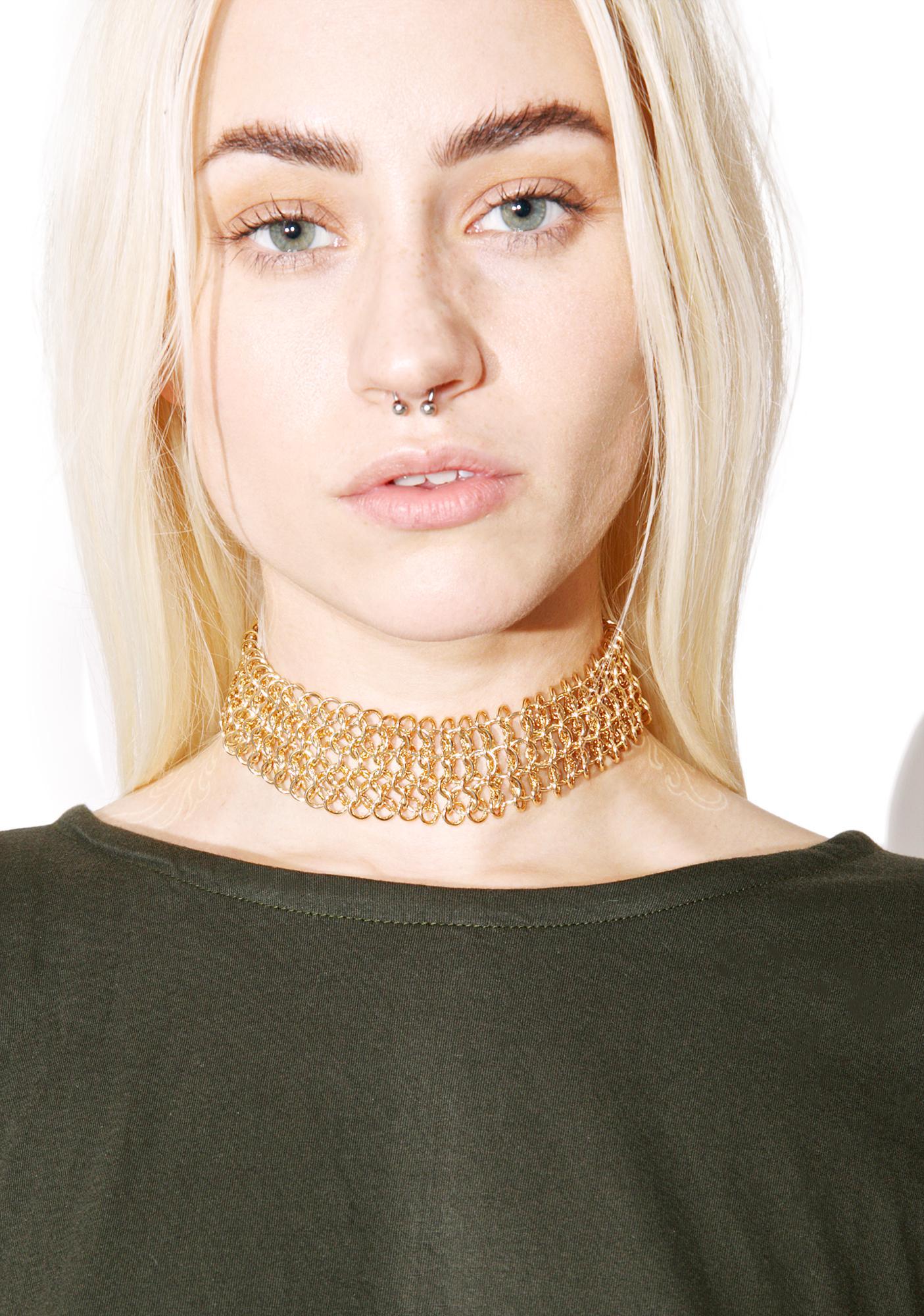 Cut U Off Chain Necklace