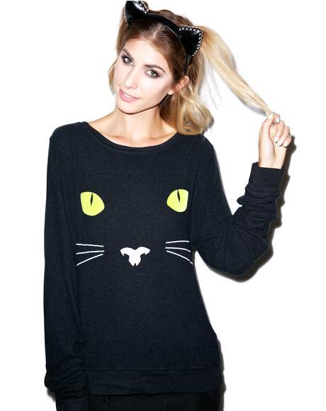Black Cat Baggy Beach Jumper