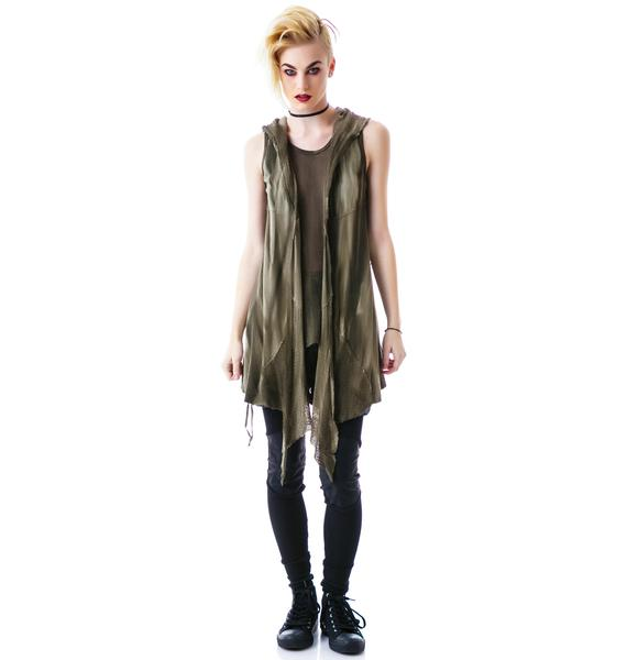 Lip Service Industrial Mesh Laced Hooded Vest