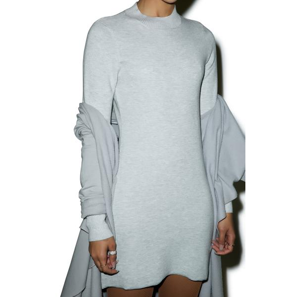 Mink Pink Ultimate Knit Longsleeve Dress