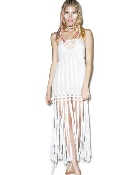 Takala Macrame Fringe Dress