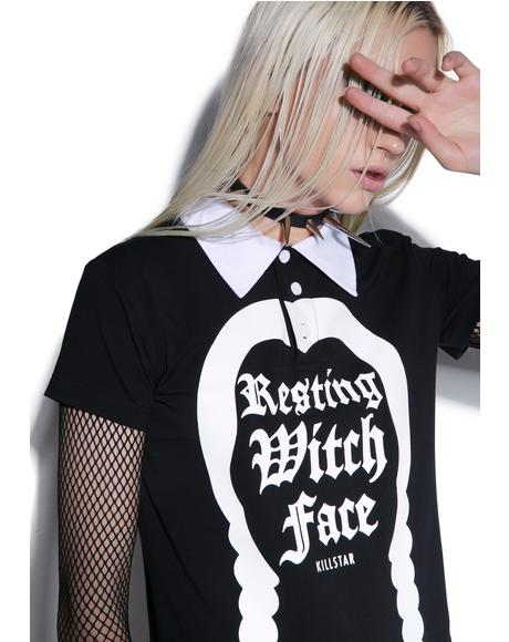 Resting Witch Collar Top
