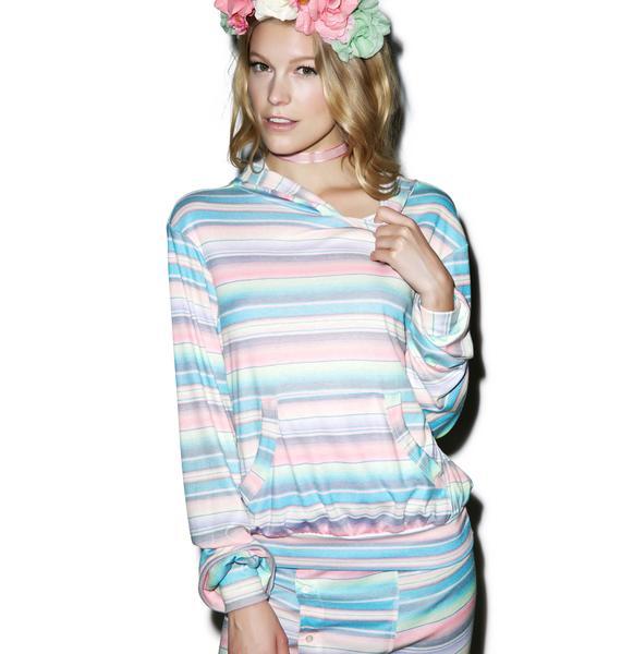 Wildfox Couture Pastel Blanket Malibu Pullover