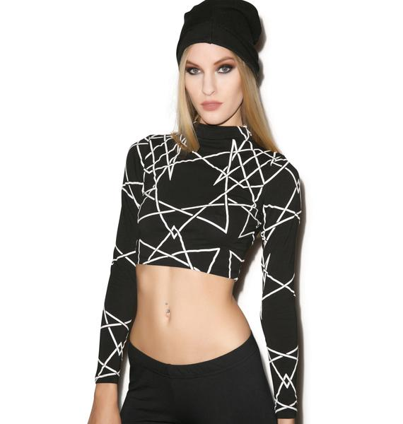 Long Clothing Infinity Long Sleeve Crop Top