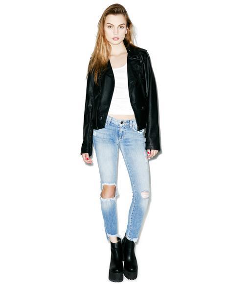 Hannah Addicting Slim Crop Jeans