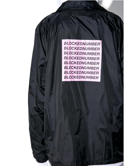 Blocked Number Coaches Jacket