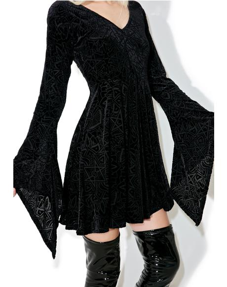 Burn Baby Angel Sleeve Dress