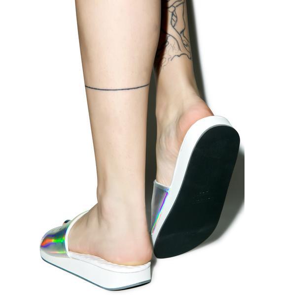 O Mighty Hologram Bae Slide Sandals