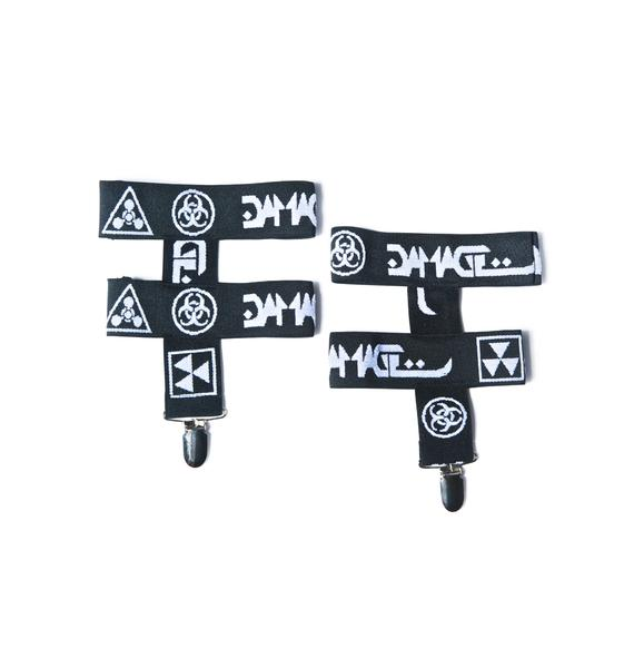 DAMAGE Logo Garter Set