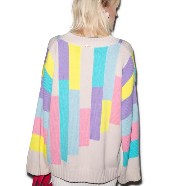 Wildfox Couture 80s Blocks Chunky Oversized Sweater