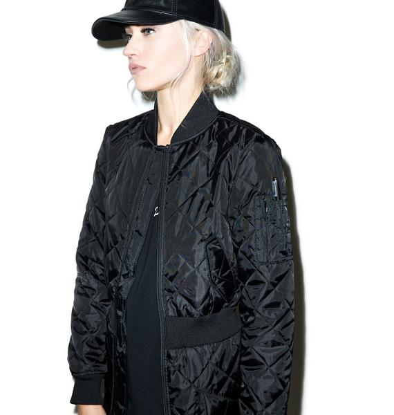Black Scale Stealth Bomber Dress