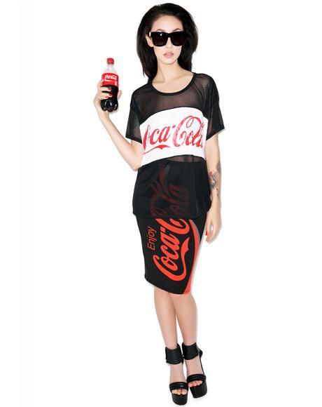 Enjoy Coca Cola Mesh Tee