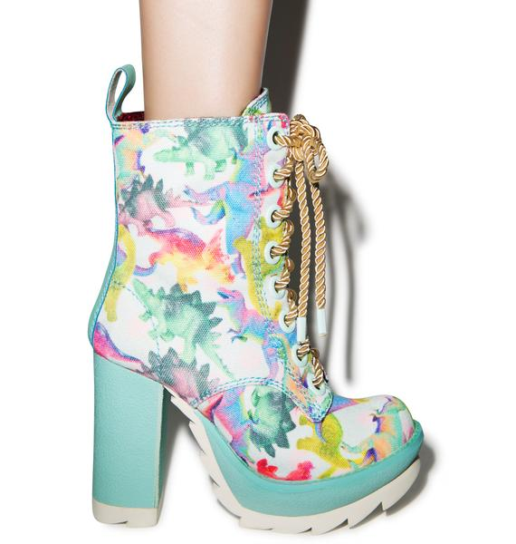 Irregular Choice Karrie Okey Dino Boot