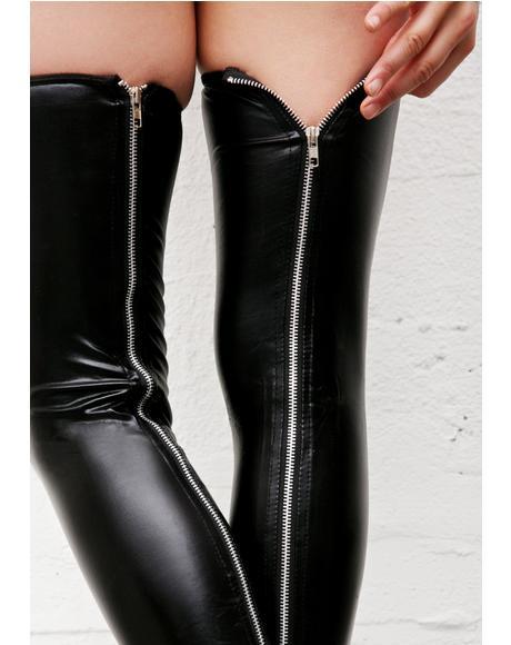 Unzip Me, BB Wetlook Thigh-Highs