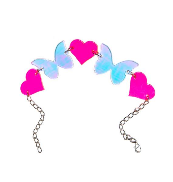 Marina Fini X Dolls Kill Butterfly Kisses Choker