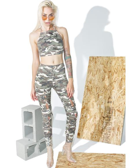 Camo Laced Pants