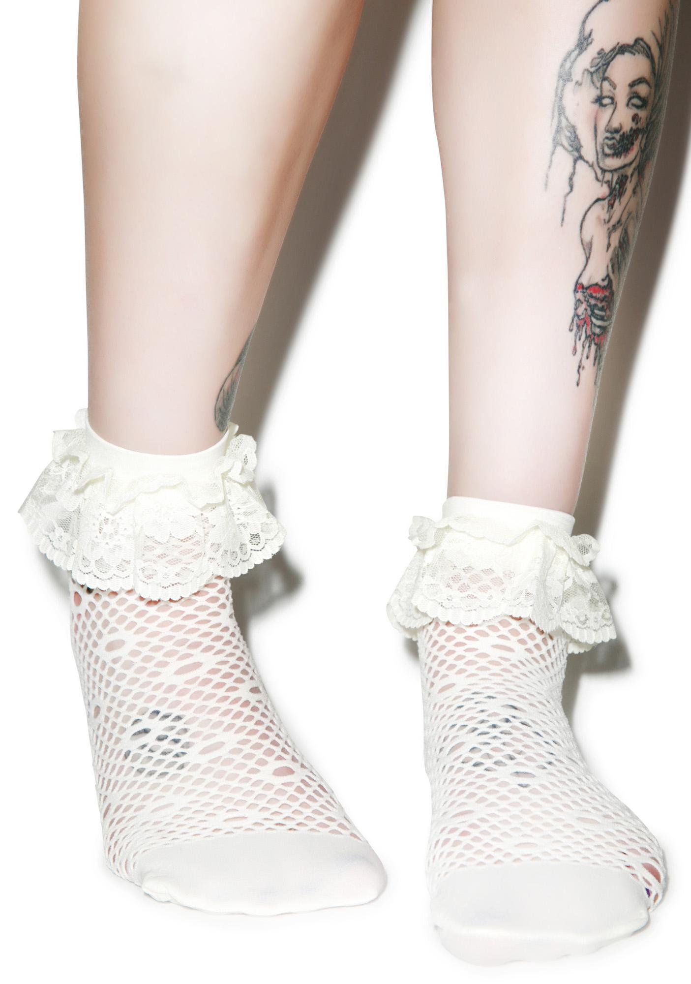 Daizy Chainz Ruffle Ankle Socks