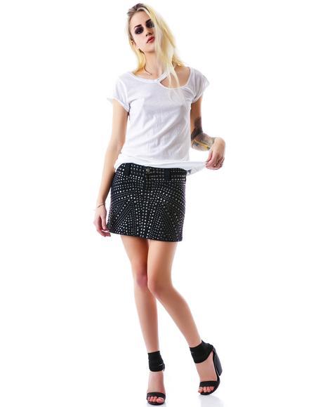 Stone Cold Mini Skirt