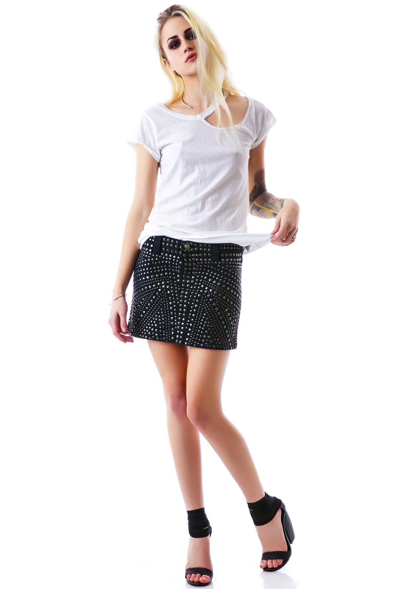 Frankie B Stone Cold Mini Skirt