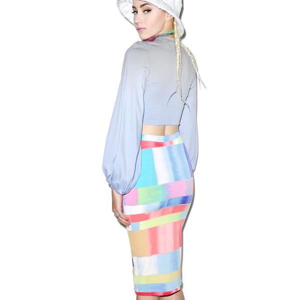 Mamadoux Abstract Rainbow Skirt