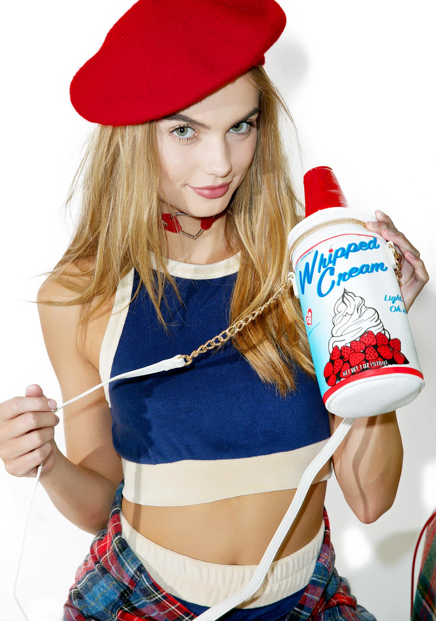 Betsey Johnson Whipped Cream Crossbody Bag