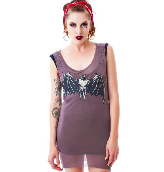 Gone Batty Tank Dress