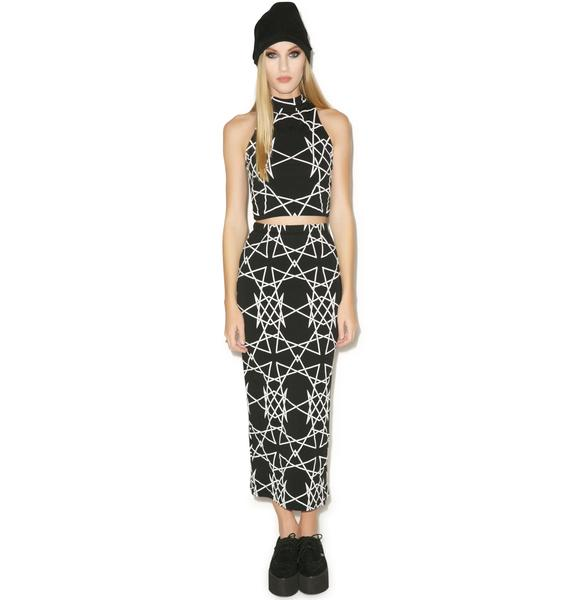 Long Clothing Infinity Sleeveless Crop Top